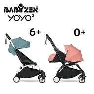 【送坐墊遮棚紅/灰(價值$2280)(顏色請備註)】法國 BABYZEN YOYO2 嬰兒手推車(6m+&新生兒套件)