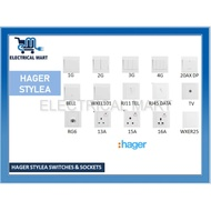 [Shop Malaysia] HAGER STYLEA SWITCHES & SOCKETS