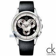 【錶飾精品】CK錶/CK手錶/Calvin Klein都會時尚/三眼日期黑皮帶男表K2A27102全新原廠正品