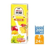 【光泉】光泉保久乳-果汁牛乳200mlx24瓶