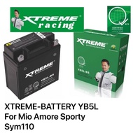 XTREME-BATTERY YB5L For Mio Amore Sporty Sym110