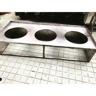 ♥️ 不鏽鋼白鐵三口二手餐車/攤車/煮麵台/餐台 ♥️