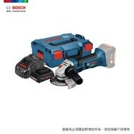 BOSCH 18V 超核芯鋰電砂輪機 GWS 18 V-LI 4.0Ah 工具箱套裝