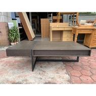 香榭二手家具*鐵刀木黑色鐵腳 4.5尺大茶几-造型桌-茶几桌-泡茶桌-客廳桌-沙發桌-矮桌-和室桌-餐桌-置物桌-2手貨