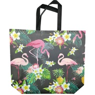 พับช้อปปิ้งกระเป๋าเดินทางร้านขายของชำกระเป๋าดอกไม้Flamingosพิมพ์Toteกระเป๋าEcoคุณภาพสูงขนาดใหญ่ไ...