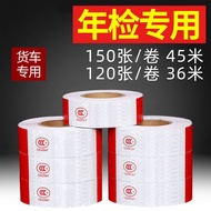 Truck Reflective Stickers Truck Reflective Sticker Year Inspection Car Stickers