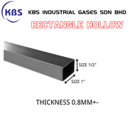 "MILD STEEL (BESI) SQUARE HOLLOW (TEBAL 0.8MM+- ) (SIZE 1/2"" x 1"")"