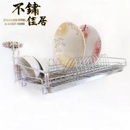 【不鏽佳居】304不鏽鋼單層吊掛式碗盤瀝水架附不鏽鋼瀝水盤(304 碗盤 瀝水 瀝乾 瀝水架 置物架)