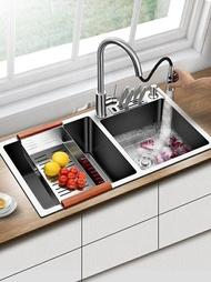 瀝水架 水盆304不銹鋼加厚廚房洗碗池洗菜盆洗菜池