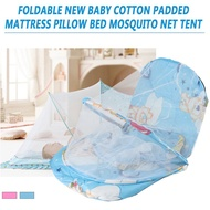 SG Foldable New Baby Cotton Padded Mattress Pillow Bed Mosquito Net Tent