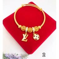 rantai silver﹢rantai leher﹢ Emas Bangkok Cop 916 Gelang Pandora inspired charms