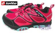 特賣會 義大利第一品牌-LOTTO樂得 女款透氣山水車三棲鞋 [3593] 莓紅 超值價$690