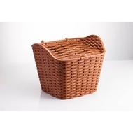 ★小葳精選★GIANT 捷安特 加大型前置物籃 仿籐造型置物籃 附簡易式上蓋