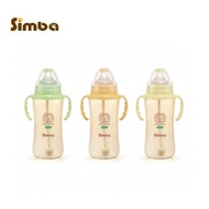 台灣Simba 小獅王 PPSU自動把手寬口雙凹大奶瓶360ml