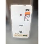 台北二手家具買賣 推薦 泰山宏品中古傢俱館 X521607* 櫻花熱水器12公升 * 二手中古 電熱水器 天然瓦斯熱水器
