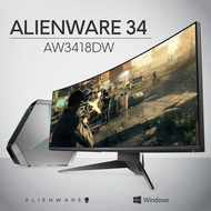 Dell Alienware AW3418DW 34  (Actual size 34.14 ) 1900R WQHD 3440 x 1440 4ms 120Hz Overclocked NVIDIA G-SYNC HDMI DisplayPort 4xUSB 3.0 IPS LED Backlit Curved Gaming Monitor