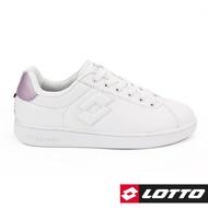 【LOTTO】1973經典室內網球鞋 女 (白/粉-LT8AWC6733)