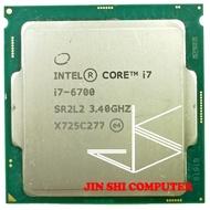 Intel Core I7-6700 I7 6700 3.4GHz Quad-Core Quad-Thread 65W CPU LGA 1151ทดสอบ100% ทำงาน