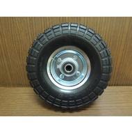 *中崙五金*最新專利 10吋 PU防刺輪 風輪 免打氣輪胎 手推車輪 採用實心雙培林 台灣製510A