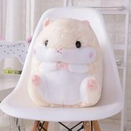 倉鼠毛絨玩具公仔空調被車用珊瑚絨毯子三合一抱枕暖手捂生日禮物