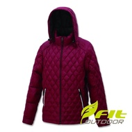 【Fit 維特】男-輕量防潑水保暖羽絨外套-酒紅色 FW1303-19(保暖外套/連帽外套/風衣/衝鋒衣/羽絨衣)