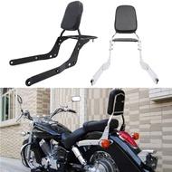 Motorcycle Backrest Sissy Bar Luggage Rack With Pad For Honda Shadow Aero VT750 2004-2012