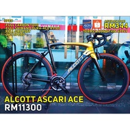 ALCOTT ROAD BIKE ASCARI ACE FULL SHIMANO DURACE R91000 (RB)