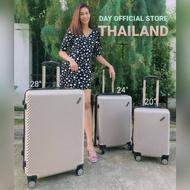 ✔️✔️ถูกที่สุด✔️✔️ กระเป๋าเดินทาง 20นิ้ว 24นื้ว 28นิ้ว ABS แข็งแรง ทนทาน By DayOfficialStore (พร้อมส่งในไทย)