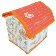小禮堂 角落生物 屋型皮質折疊掀蓋收納箱 迷你收納箱 小物收納箱 (橘米)