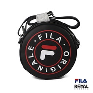 FILA 黑色 皮質 圓形 側背包 NO.H2725