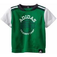 【現貨】 ADIDAS假兩件排汗短T(綠色)