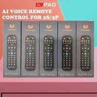 Original EVPAD AI Voice Remote Control EVAI for EVPAD 5S & EVPAD 5P Bluetooth and Voice Remote with Dongle
