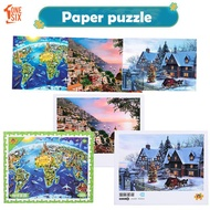 Landscape Painting Puzzle Paper Puzzles Jigsaw Puzzle Entertainment Hobby Fun Cool 1000pcs Building Blocks Game Adult Model Birthday Present
