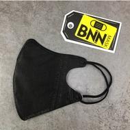 BNNxMASK 立體V搖滾黑N95五層防塵拋棄式口罩 50入 成人 小孩尺寸