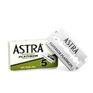 Astra Superior Platinum 極致白金版 雙面安全刮鬍刀片 安全刀片 5片一盒裝