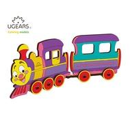 UGEARS U-COLOR 著色嗚嗚小火車|免電力自走木製模型|親子同樂
