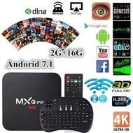 New HD 4K MXQ Pro WiFi Smart TV Box 2G+16G Android 6.0 Network Screen Cast TV Receiver Set Top Box w