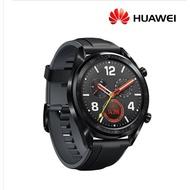 HUAWEI WATCH GT 46mm智慧手錶-曜石黑矽膠錶帶送玻璃貼