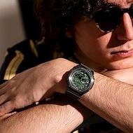 CASIO卡西歐 G-SHOCK 沉穩灰綠 金屬錶殼 八角形錶殼 GM-2100B-3A_44.4mm