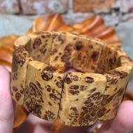台灣黃檜。重油金絲豹紋釘手排