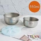 【鈦安純鈦餐具 TiANN】外出收納純鈦雙碗含蓋組