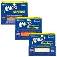 【附發票】美國 Mack's 成人矽膠耳塞 2副裝 防噪音 飛行 游泳 適用 20821
