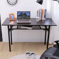 澄境 免組裝100x40簡易雙層摺疊桌/書桌/電腦桌/辦公桌/餐桌