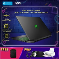 """NEW HP Pavilion Gaming Laptop 15-ec2023AX 15.6"""" FHD (AMD Ryzen 5 5600H, 512GB SSD, 8GB, NVIDIA GeForce GTX 1650 4GB, W10H) - Black [FREE] HP Pavilion Backpack (Grab/Touch & Go credit redemption : 1/5-31/7*)"""