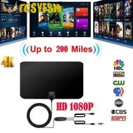 高品質1080P 200英里範圍天線電視數字高清Skywire 4K天線數字室內高清電視