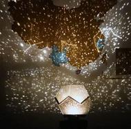 星空投影燈創意LED小夜燈星星燈滿天星床頭臥室浪漫夢幻星空投影儀檯燈