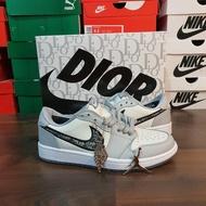 (Sports) Dior X Nike Air Jordan 1 Low Premium Original Basket