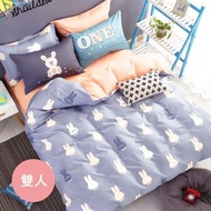 PureOne - 極致純棉寢具組-彼得兔-雙人三件式枕套床包組