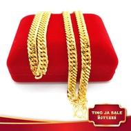 สร้อยคอทอง ลายโซ่เลส  น้ำหนัก 2บาท ยาว 24นิ้ว สินค้าขายดี ชุบเศษทองเยาวราช ชุบทอง100% งานฝีมือจากช่างเยาวราช