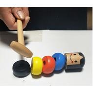 notheigh#韓國打不散的小人神奇魔術玩具道具 打不倒的小人